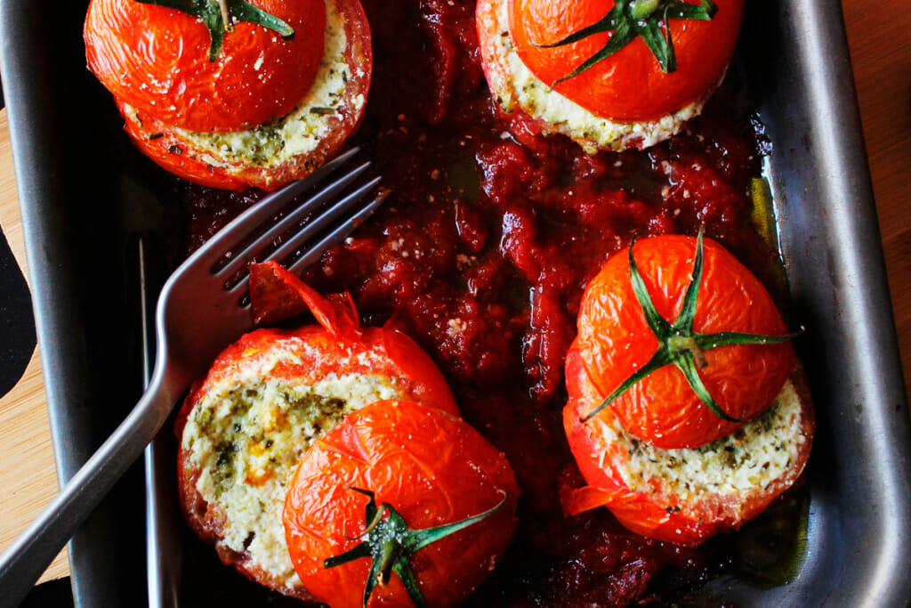 """Featured image for """"Receita de Tomate Vero recheado com Ricota"""""""